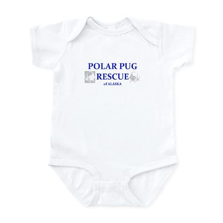 Polar Pug Rescue Logo Infant Bodysuit