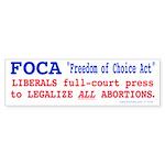 FOCA Bumper Sticker (50 pk)