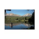 Manzanita Lake, Lassen CA Rectangle Magnet (10 pac