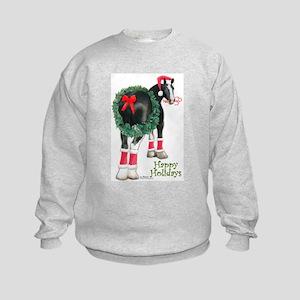Christmas Shire Draft Horse Kids Sweatshirt