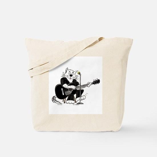 Accoustic Guitar Cat Tote Bag