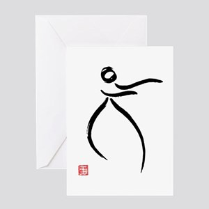 Tai Chi Raise Hands - Greeting Card