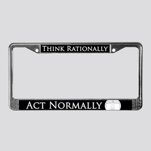 Think Rationally Retro License Plate Frame