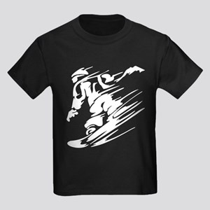 SNOWBOARDING! Kids Dark T-Shirt