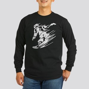 SNOWBOARDING! Long Sleeve Dark T-Shirt