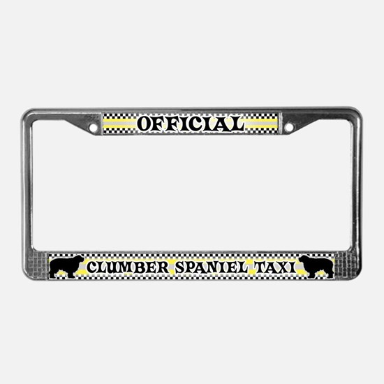 Official Clumber Spaniel Taxi License Plate Frame