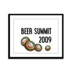 Beer Summit - Framed Panel Print