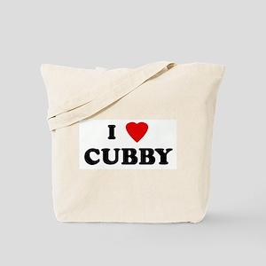 I Love CUBBY Tote Bag
