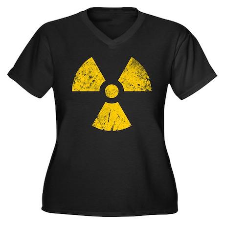 'Vintage' Radioactive Women's Plus Size V-Neck Dar