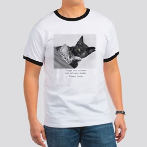 Thinking Cats-And-Quotes Ringer T