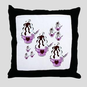 Sundae Lovers Throw Pillow