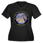 Charlie Rock Women's Plus Size V-Neck Dark T-Shirt