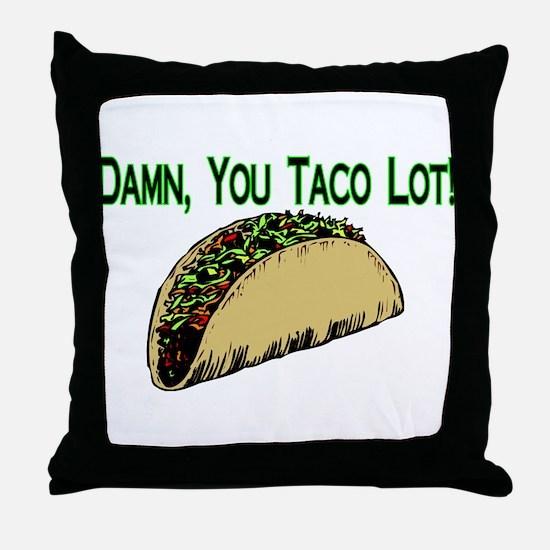 Taco Lot Throw Pillow
