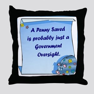 Penny Saved Throw Pillow