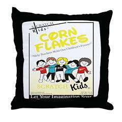 Scratch Kids Corn Flakes Desi Throw Pillow