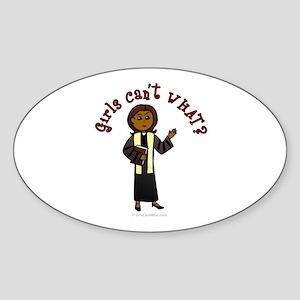 Dark Preacher Oval Sticker