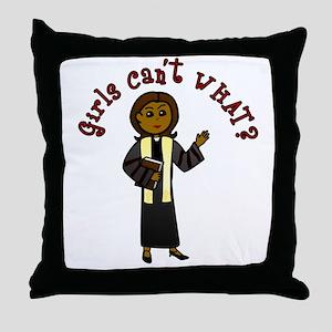Dark Preacher Throw Pillow