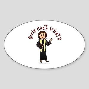 Light Preacher Oval Sticker