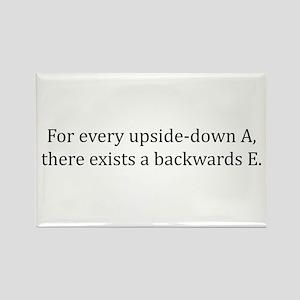 Every updside-down A, exists backwards E Rectangle