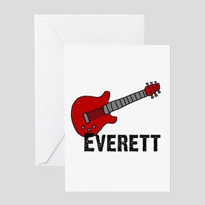 Guitar - Everett Greeting Card