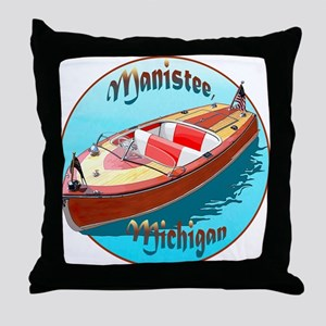 The Manistee, Michigan Throw Pillow