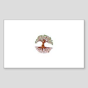 Tree of Life Rectangle Sticker 10 pk)