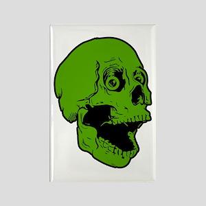 green skully Rectangle Magnet