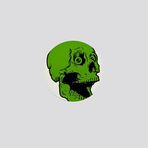 green skully Mini Button