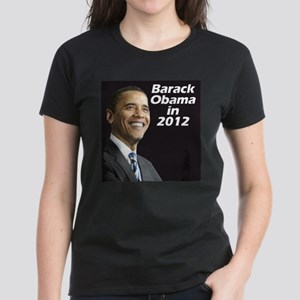 Obama in 2012 Women's Dark T-Shirt