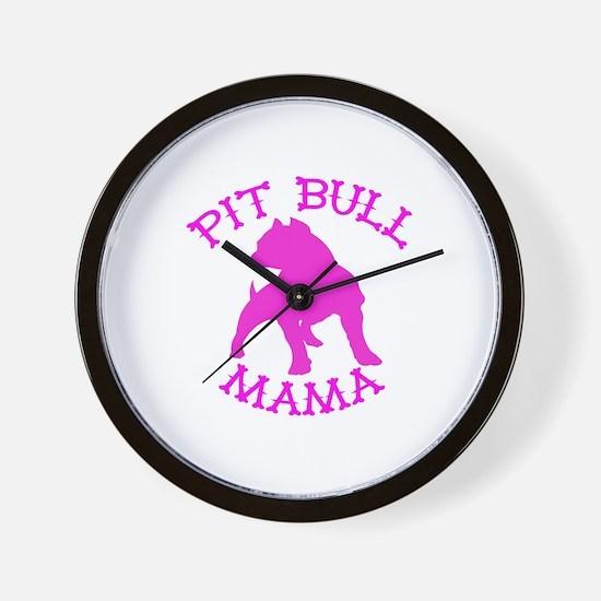 Pitbull Mama Solid Wall Clock