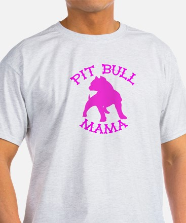 Pitbull Mama Solid T-Shirt