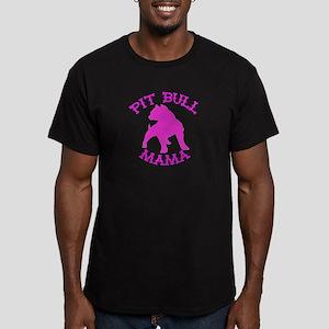 Pitbull Mama Solid Men's Fitted T-Shirt (dark)