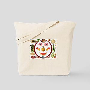 Happy vs. Sad Food - Tote Bag