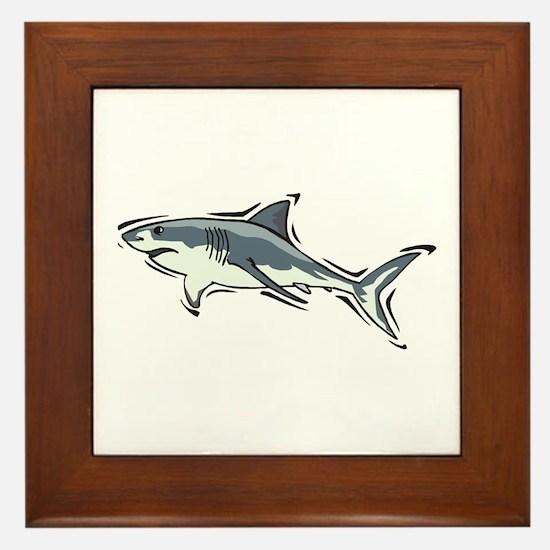 SHARK (21) Framed Tile