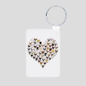 Chicken Heart Keychains