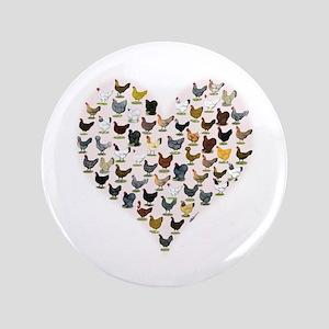 """Chicken Heart 3.5"""" Button"""