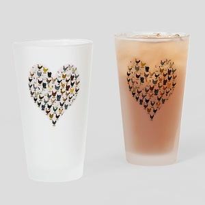 Chicken Heart Drinking Glass