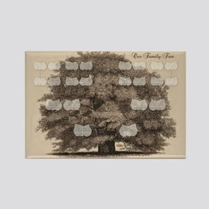 Family Tree Rectangle Magnet