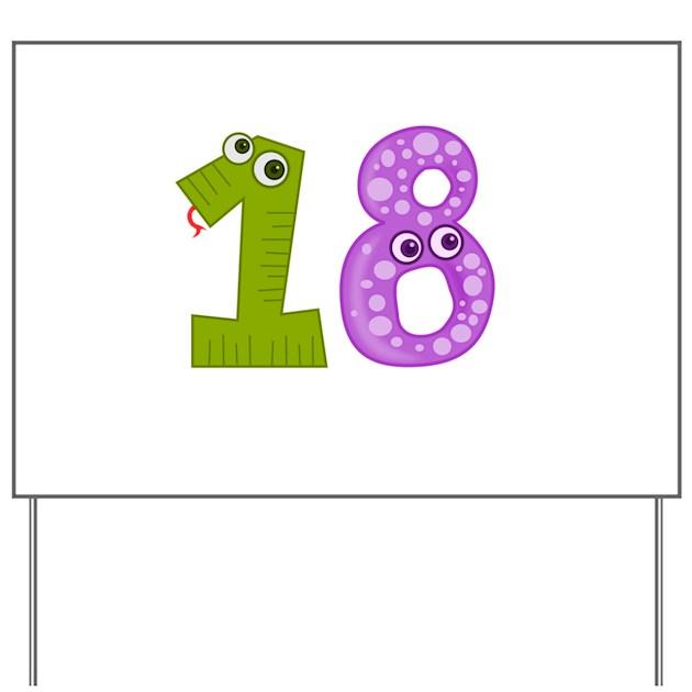 18th Birthday Funny B Day Number Birthda Yard Sign By