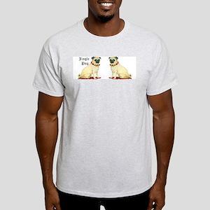 Adorable Jingle Pug! Ash Grey T-Shirt