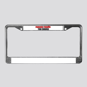 """Tienspiration """"Reasons or Res License Plate Frame"""