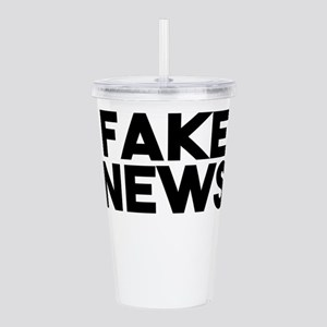Fake News fashionable Acrylic Double-wall Tumbler