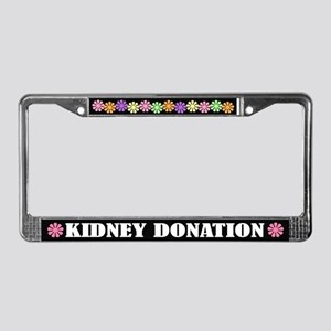 Kidney Donation License Plate Frame