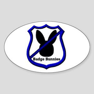 No Badge Bunnies Oval Sticker