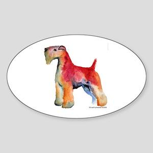 Soft Coated Wheaten Terrier watercolor Sticker (Ov