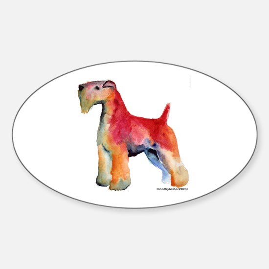 Soft Coated Wheaten Terrier watercolor Decal