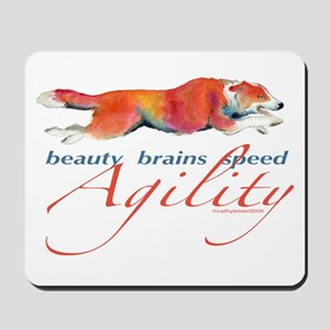 Beauty, Brains and Speed Mousepad