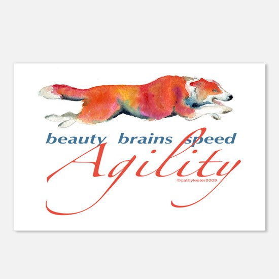 Beauty, Brains and Speed Postcards (Package of 8)