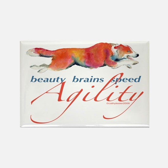 Beauty, Brains and Speed Rectangle Magnet