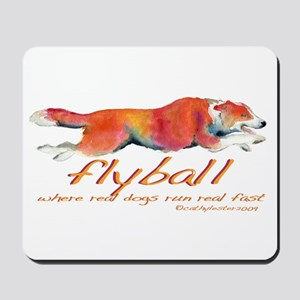 Real dogs Real fast Mousepad